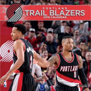 ご予約 NBA トレイルブレイザーズ 2019 チーム カレンダー ターナー/Turner|selection-j