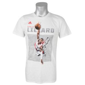 NBA トレイルブレイザーズ デイミアン・リラード Tシャツ 半袖 エレベート アディダス/Adidas ホワイト|selection-j