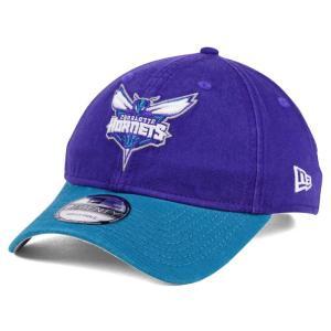 NBA ホーネッツ キャップ/帽子 2トーン ニューエラ/New Era パープル/ティール(プライマリーロゴ)|selection-j