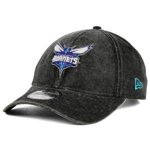 NBA ホーネッツ キャップ/帽子 イタリアン ウォッシュ ダッド ニューエラ/New Era ブラック|selection-j