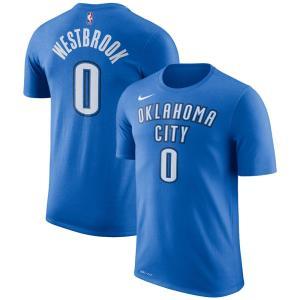 NBA サンダー ラッセル・ウェストブルック Tシャツ ネーム&ナンバー パフォーマンス ナイキ/Nike ブルー 870796-403 selection-j