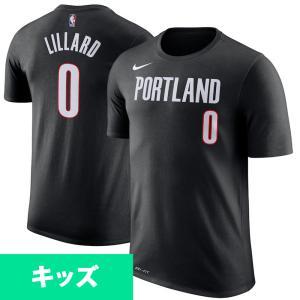 NBA トレイルブレイザーズ デイミアン・リラード Tシャツ アイコン ネーム&ナンバー  ナイキ/Nike ブラック|selection-j