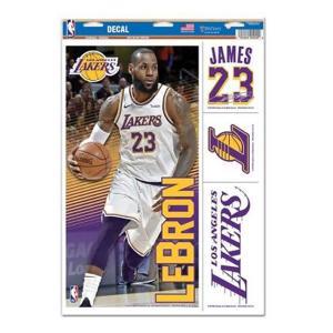 NBA レイカーズ レブロン・ジェイムス ステッカー/デカール マルチ Forever Collectibles|selection-j