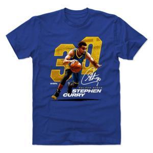 NBA ウォリアーズ ステファン・カリー Tシャツ プレーヤー アート オフェンス 500Level ロイヤルブルー selection-j