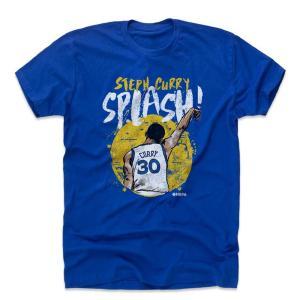 NBA ウォリアーズ ステファン・カリー Tシャツ プレーヤー アート スプラッシュ 500Level ロイヤルブルー|selection-j