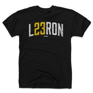 NBA レイカーズ レブロン・ジェイムス Tシャツ プレーヤー アート  500Level ブラック selection-j