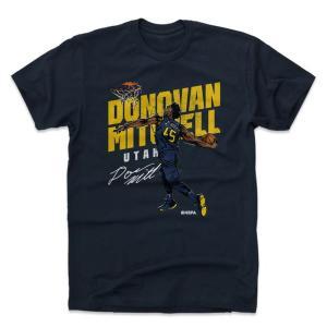 NBA ジャズ ドノバン・ミッチェル Tシャツ プレーヤー アート スラム 500Level ネイビー selection-j
