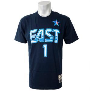NBA イースト アレン・アイバーソン Tシャツ 2009 オールスターゲーム プレイヤー ミッチェル&ネス/Mitchell & Ness ネイビー|selection-j