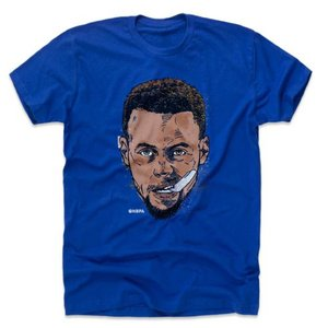 NBA ウォリアーズ ステファン・カリー ステフィン・カリー Tシャツ Player Art Cotton T-Shirt 500Level ロイヤルブルー|selection-j