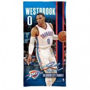 NBA サンダー ラッセル・ウェストブルック スペクトラ ビーチ タオル 30×60 ウィンクラフト/WinCraft selection-j
