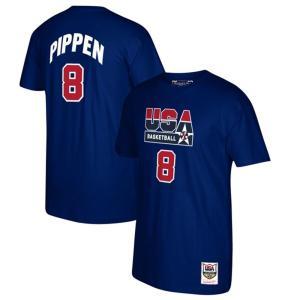 アメリカ代表 スコッティ・ピッペン Tシャツ USABB 1992 ドリームチーム ネーム&ナンバー Mitchell & Ness selection-j