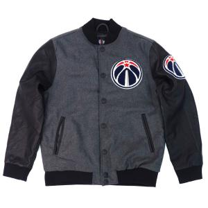 NBA ワシントン・ウィザーズ ジャケット/アウター ウール ボンバー UNK ヘザー/ブラック【1909プレミア】|selection-j