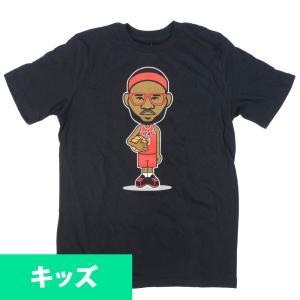 NBA レブロン・ジェイムス マイアミ・ヒート Tシャツ ユース カートゥーン  アディダス/Adidas ブラック|selection-j