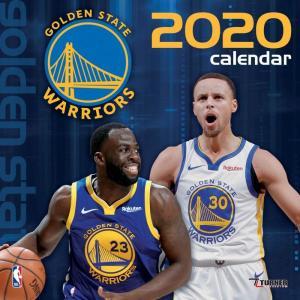 ご予約 NBA ゴールデンステイト・ウォリアーズ 2020 チームウォール カレンダー Turner|selection-j