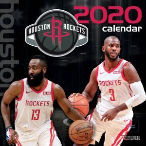 ジャパンゲーム 来日 ご予約 NBA ヒューストン・ロケッツ 2020 チームウォール カレンダー Turner|selection-j