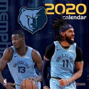 ご予約 NBA メンフィス・グリズリーズ 2020 チームウォール カレンダー Turner|selection-j