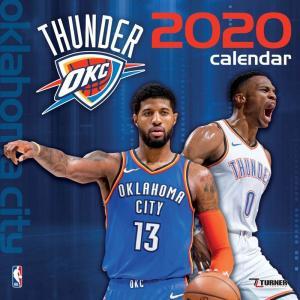 ご予約 NBA オクラホマシティ・サンダー 2020 チームウォール カレンダー Turner|selection-j