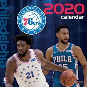 ご予約 NBA フィラデルフィア・76ers 2020 チームウォール カレンダー Turner|selection-j