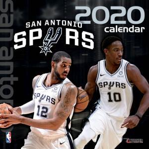ご予約 NBA サンアントニオ・スパーズ 2020 チームウォール カレンダー Turner|selection-j