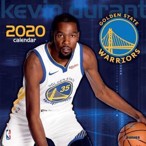 ご予約 NBA ケビン・デュラント ゴールデンステイト・ウォリアーズ 2020 プレイヤー ウォール カレンダー Turner|selection-j