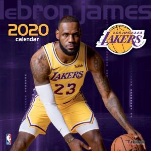 ご予約 NBA レブロン・ジェームス ロサンゼルス・レイカーズ 2020 プレイヤー ウォール カレンダー Turner|selection-j