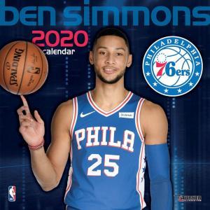 ご予約 NBA ベン・シモンズ フィラデルフィア・76ers 2020 プレイヤー ウォール カレンダー Turner|selection-j