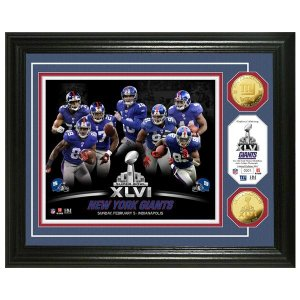 NFL ジャイアンツ フォトフレーム ハイランドミント Champs Super Bowl XLVI 24KT Gold Coin Team Photo Mint|selection-j