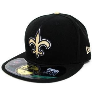 【決算セール】NFL セインツ キャップ/帽子 ブラック/ゴールド ニューエラ On-Filed Performance 59FIFTY Fitted キャップ NEJ|selection-j