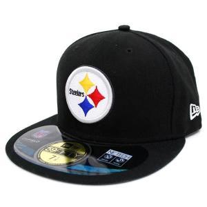 【決算セール】NFL スティーラーズ キャップ/帽子 ブラック ニューエラ On-Filed Performance 59FIFTY Fitted キャップ NEJ|selection-j