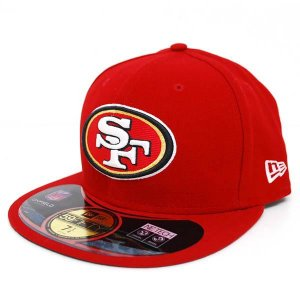 【決算セール】NFL 49ers キャップ/帽子 スカーレット/ホワイト ニューエラ On-Filed Performance 59FIFTY Fitted キャップ NEJ|selection-j
