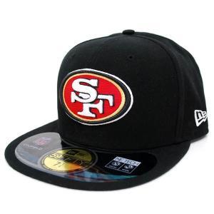【決算セール】NFL 49ers キャップ/帽子 ブラック ニューエラ On-Filed Performance 59FIFTY Fitted キャップ|selection-j