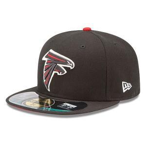 【決算セール】NFL ファルコンズ キャップ/帽子 ブラック ニューエラ On-Filed Performance 59FIFTY Fitted キャップ|selection-j