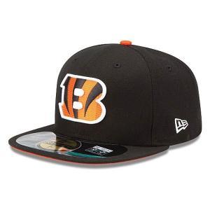 【決算セール】NFL ベンガルズ キャップ/帽子 ブラック ニューエラ On-Filed Performance 59FIFTY Fitted キャップ|selection-j