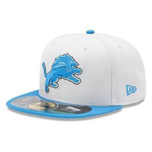 【決算セール】NFL ライオンズ キャップ/帽子 Silver/ Light Blue ニューエラ On-Filed Performance 59FIFTY Fitted キャップ|selection-j