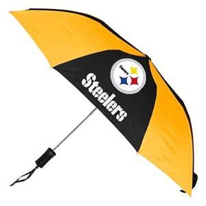NFL スティーラーズ 折り畳み傘 totes Umbrella Auto Folding selection-j