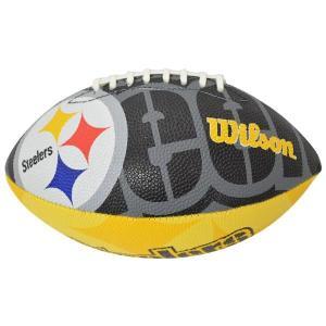 NFL スティーラーズ ボール ウィルソン/Wilson Junior Super Grip Rubber Football【1909セール】|selection-j