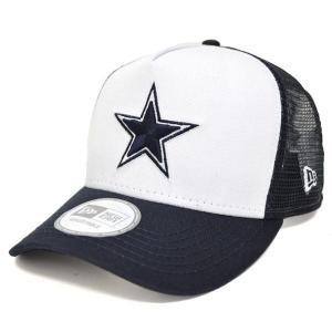NFL カウボーイズ キャップ/帽子 ネイビー ニューエラ D-Frame Trucker Mesh キャップ|selection-j