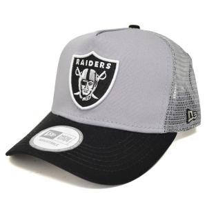 NFL レイダース キャップ/帽子 グレー ニューエラ D-Frame Trucker Mesh キャップ|selection-j