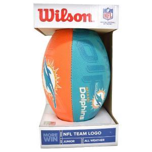 NFL ドルフィンズ ボール ウィルソン/Wilson Junior Super Grip Rubber Football【190731解】|selection-j