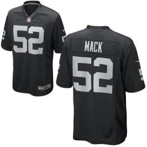 NFL レイダース カリル・マック ユニフォーム ブラック ナイキ Game ユニフォーム selection-j