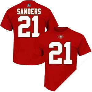 NFL 49ers ディオン・サンダース Tシャツ スカーレット Majestic|selection-j