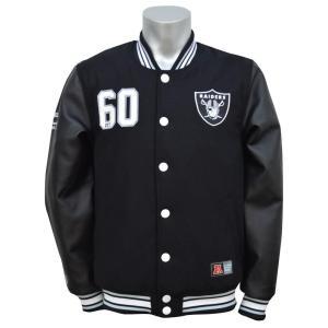 NFL レイダース ジャケット Letterman ジャケット Majestic selection-j