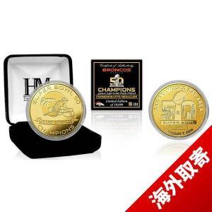 NFL ブロンコス スーパーボウル 50 優勝記念 ゴールドコイン The Highland Mint selection-j