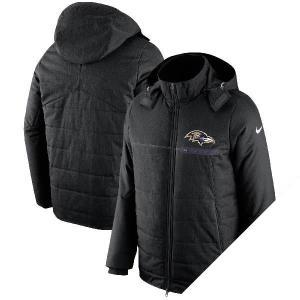 NFL レイブンズ チャンプ ドライブ サイドライン フルジップ ジャケット ナイキ/Nike ブラック selection-j