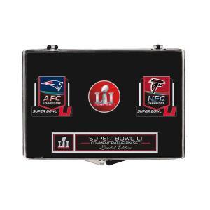 NFL ファルコンズ vs. ペイトリオッツ 第51回スーパーボウル記念 スリーピース ピンバッジ セット[SB51]|selection-j