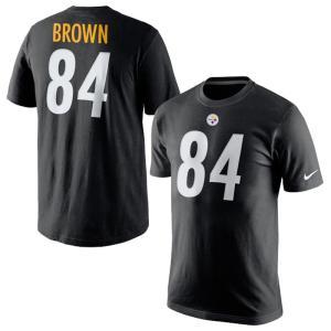 NFL スティーラーズ アントニオ・ブラウン プレーヤー プライド ネーム&ナンバー Tシャツ ナイキ/Nike ブラック 709856-016【180921変更】|selection-j