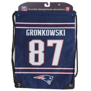 NFL ペイトリオッツ ロブ・グロンコウスキー プレイヤー ナップサック/バックパック/リュック メンズ|selection-j