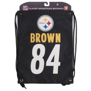 NFL スティーラーズ アントニオ・ブラウン プレイヤー ナップサック/バックパック/リュック メンズ|selection-j