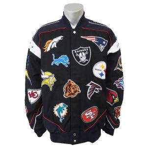 NFL 31 チームロゴ ツイル ジャケット G-III ブラック レアアイテム selection-j