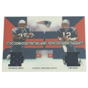 NFL ペイトリオッツ トム・ブレイディ 2003 アントウェイン・スミス & トム・ブレイディ ユニフォーム カード レアアイテム【1909プレミア】|selection-j